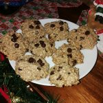 Vegan Christmas Cookies – Oatmeal Chocolate Chip